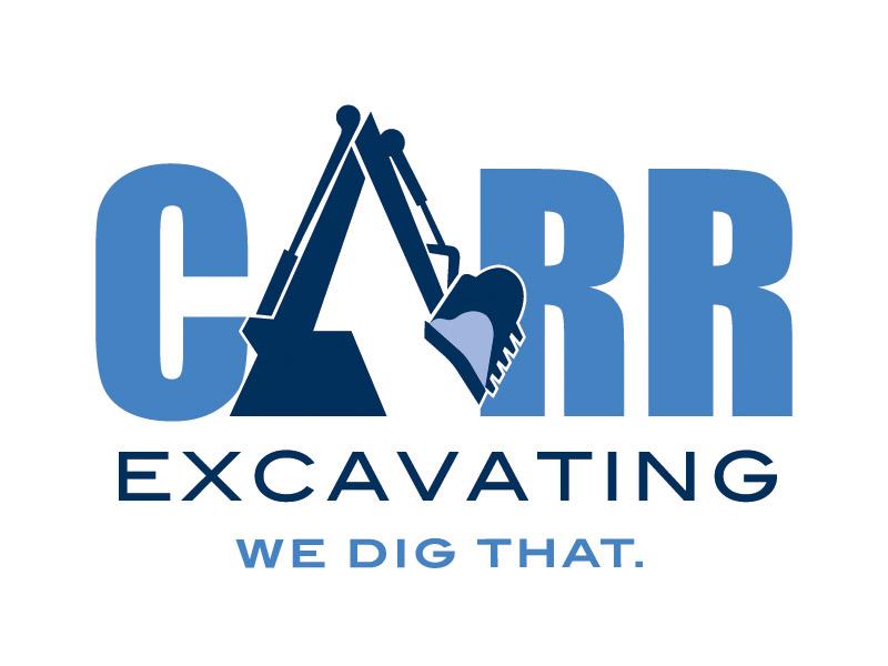 Logo Design - Branding gallery of work marketing agency for Carr Excavating at Bare Bones Marketing.