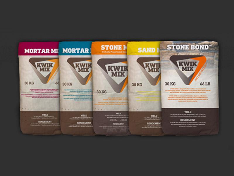 Packaging Design - Branding gallery of work marketing for Kwik Mix at Bare Bones Marketing.