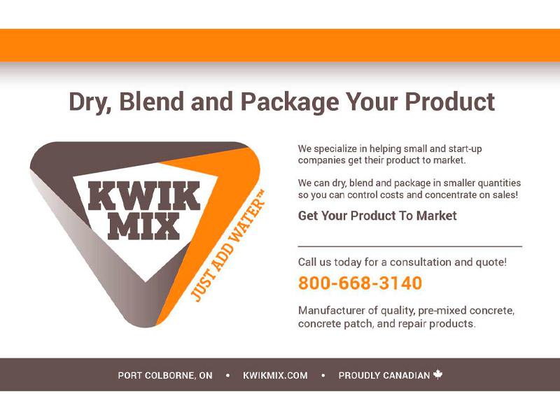 Kwik Mix Ad Design - Marketing design, Bare Bones Marketing in Oakville, Ontario.