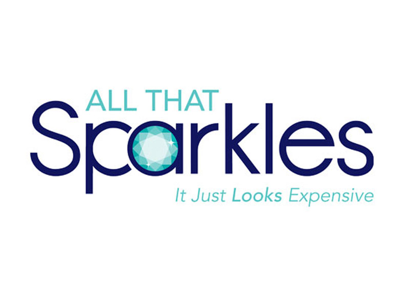 All That Sparkles Logo Design - Branding agency Bare Bones Marketing in Oakville, Ontario.