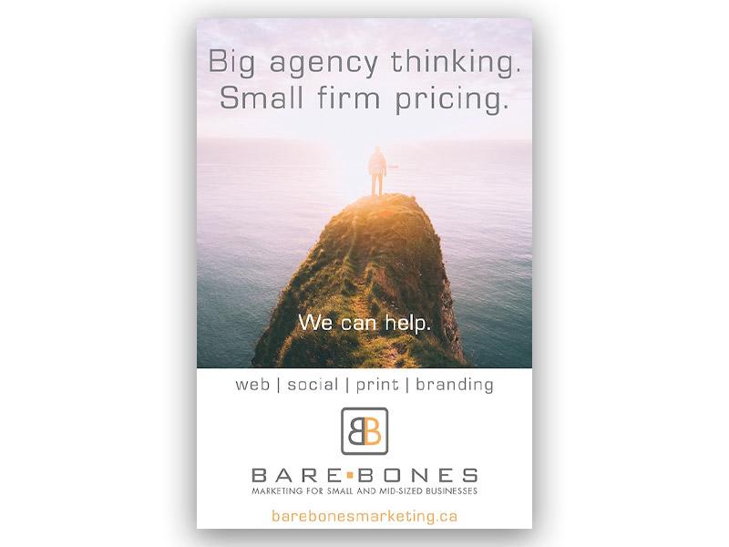 BBM Ad Design - Print branding at Bare Bones Marketing in Oakville, Ontario.