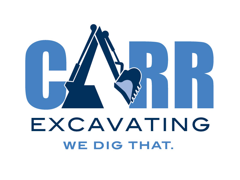 Carr Excavating Logo Design - Branding agency Bare Bones Marketing in Oakville, Ontario.