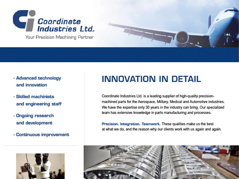 CI Sell Sheet - Marketing Design, Bare Bones Marketing in Oakville, Ontario.