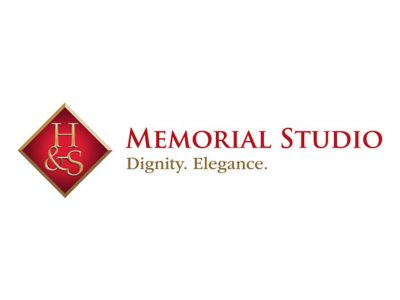 H&S Memorial Studio Logo Design - Branding agency Bare Bones Marketing in Oakville, Ontario.