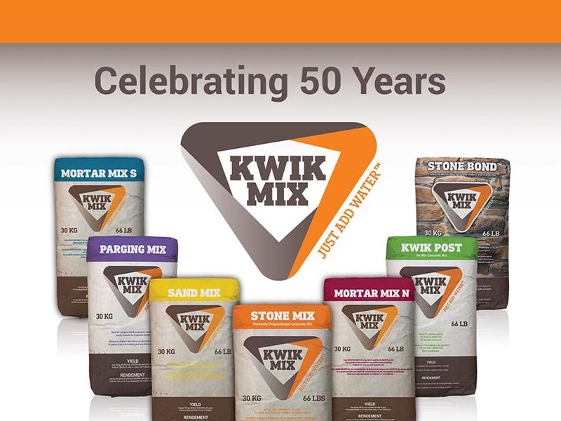 Kwik Mix Ad Design - Print branding at Bare Bones Marketing in Oakville, Ontario.