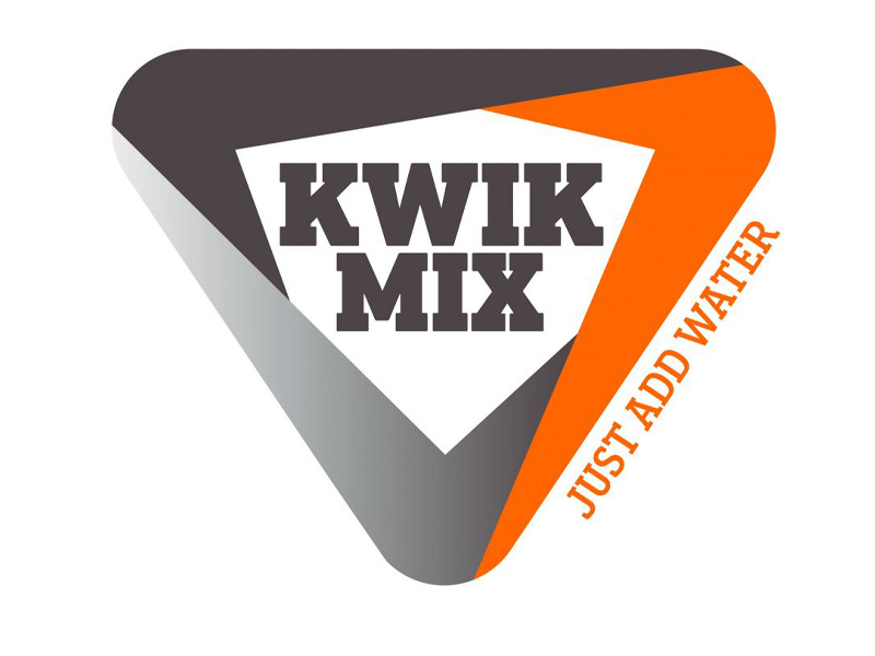 Kwik Mix Logo Design - Branding agency Bare Bones Marketing in Oakville, Ontario.