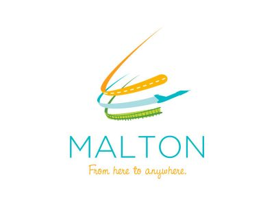 Malton BIA logo Design - Branding agency Bare Bones Marketing in Oakville, Ontario.