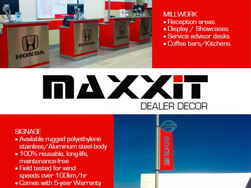 Maxxit Ad Design - Print branding at Bare Bones Marketing in Oakville, Ontario.