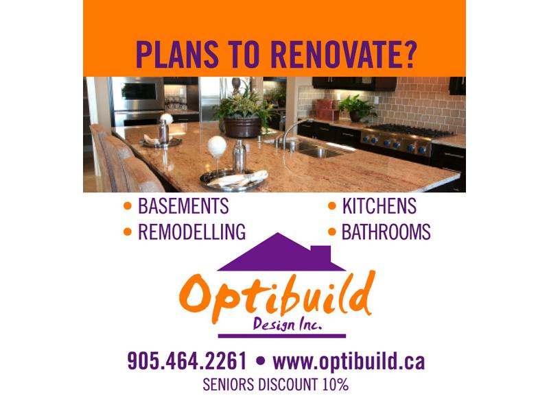 Optibuild Ad Design - Print branding at Bare Bones Marketing in Oakville, Ontario.