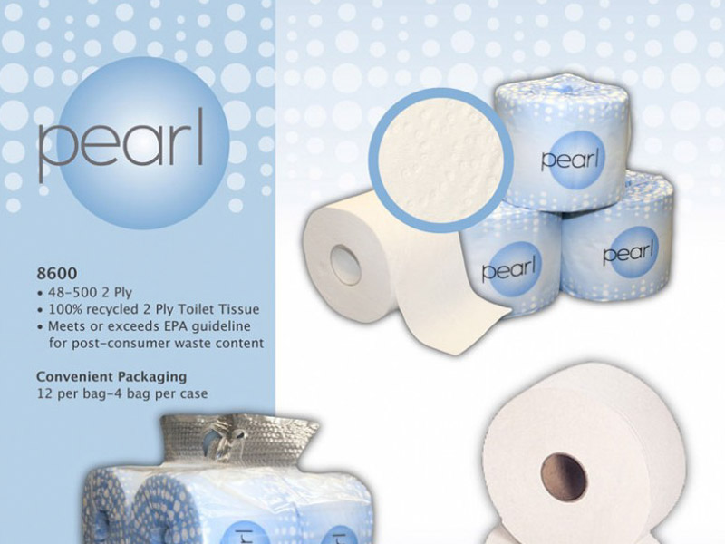 Pearl Tissue Sell Sheet - Marketing Design, Bare Bones Marketing in Oakville, Ontario.
