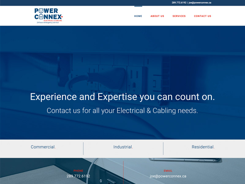 Power Connex Web Development - Web Design with Bare Bones Marketing in Oakville, Ontario.
