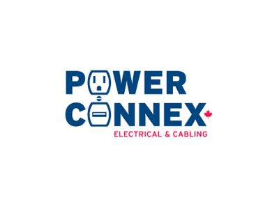 Power Connex Logo Design - Branding agency Bare Bones Marketing in Oakville, Ontario.
