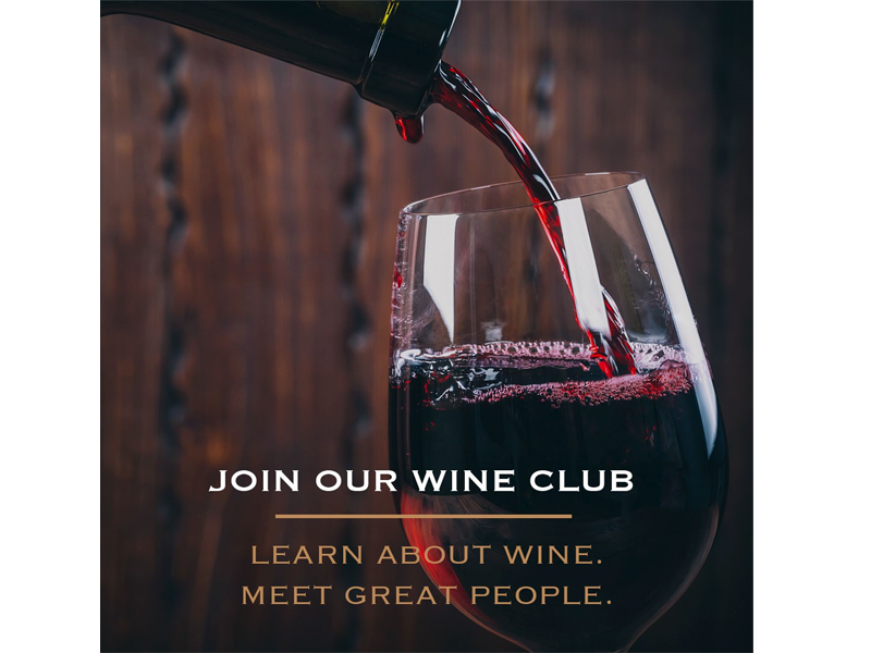 Social Marketing content - Join our wine club at Chop and Wop social ad at Bare Bones Marketing in Oakville, Ontario.