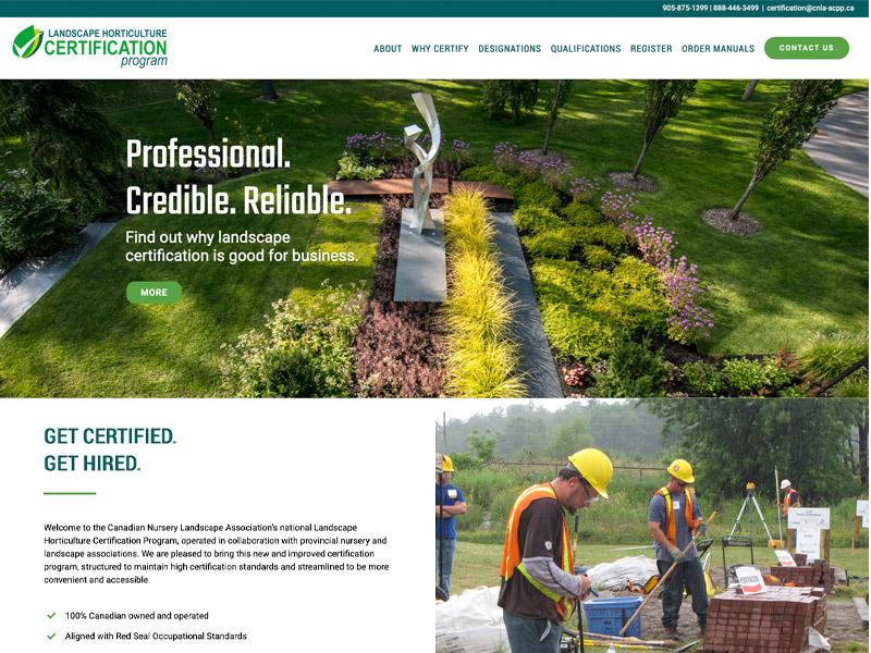 LHCP Web Development - Web Design with Bare Bones Marketing in Oakville, Ontario.