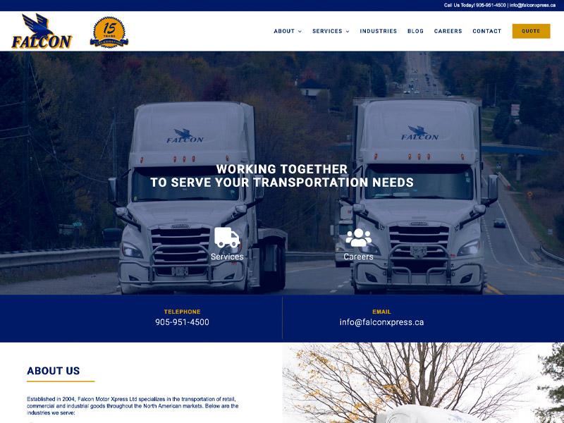 Falcon Xpress Development - Web Design with Bare Bones Marketing in Oakville, Ontario.