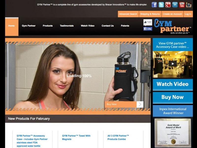GymPartner Development - Web Design with Bare Bones Marketing in Oakville, Ontario.
