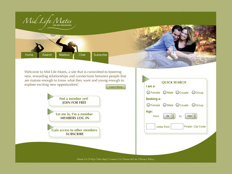 MidLife Mates Web Development - Web Design with Bare Bones Marketing in Oakville, Ontario.