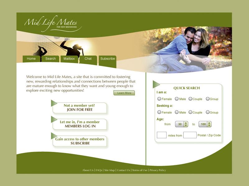 MidLife Mates Web Development - Web Design with Bare Bones Marketing in Oakville, Ontario.