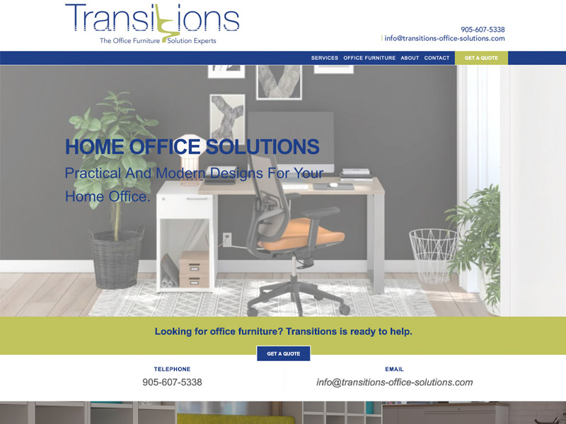 Transitions Web Development - Web Design with Bare Bones Marketing in Oakville, Ontario.
