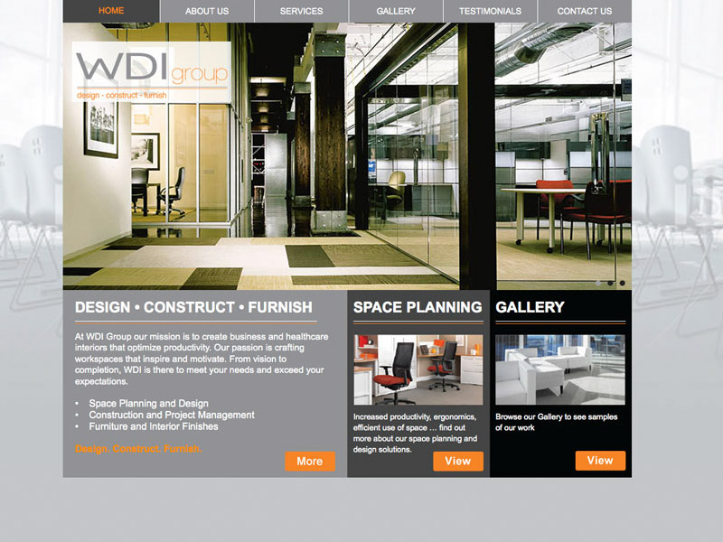 WDI Group Web Development - Web Design with Bare Bones Marketing in Oakville, Ontario.