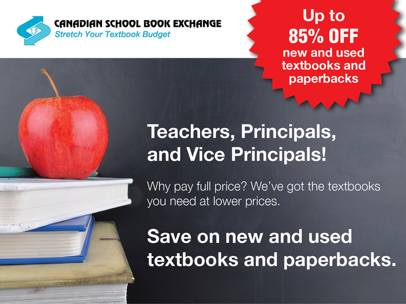 Canadian School Book Exchange - Email Marketing with Bare Bones Marketing in Okaville, Ontario.