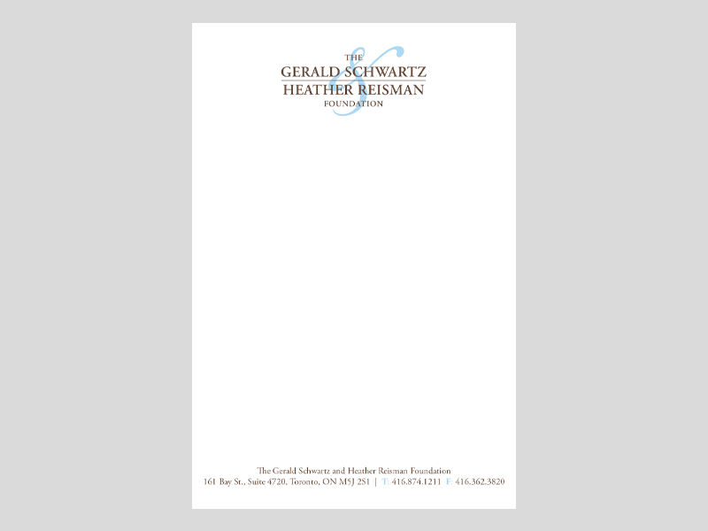 GSHR Letterhead - Notepad products with Bare Bones Marketing in Oakville, Ontario.