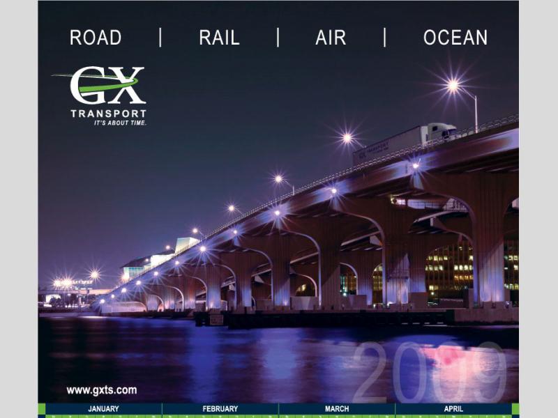 Calendar Design - GX Transport with Bare Bones Marketing in Oakville, Ontario.