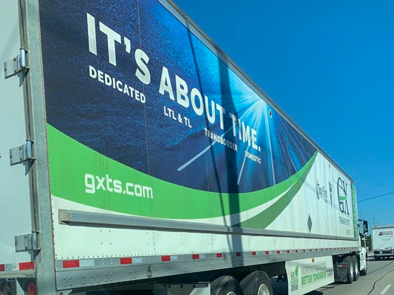 GX Truck Design side view - Vehicle Decal Design with Bare Bones Marketing in Oakville, Ontario.