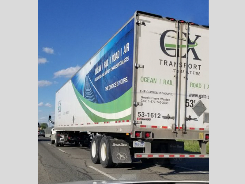 GX Truck Design back view - Vehicle Decal Design with Bare Bones Marketing in Oakville, Ontario.