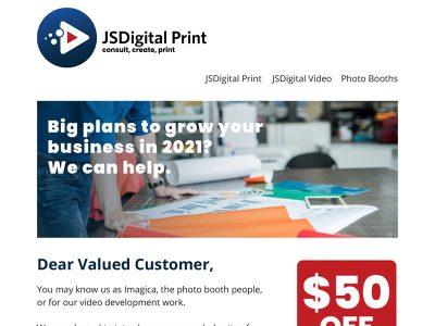 JSDigital Email Marketing - Big plans, Bare Bones Marketing in Oakville, Ontario.