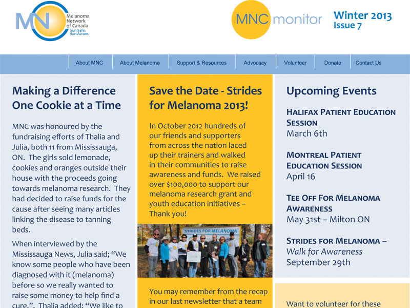 MNC Monitor Winter - Email Marketing with Bare Bones Marketing in Oakville, Ontario.