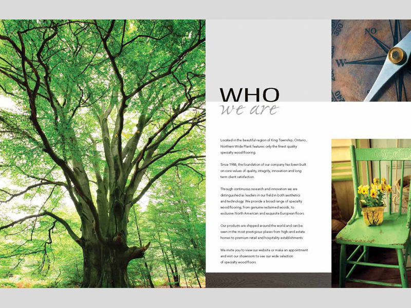 NWP Who we are - Brochure design with Bare Bones Marketing in Oakville, Ontario.