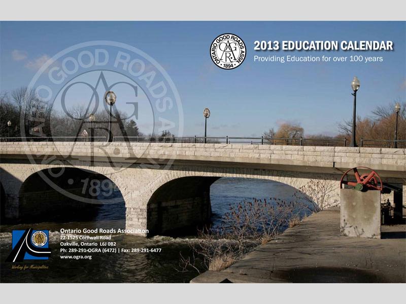 OGRA Education Calendar Design with Bare Bones Marketing in Oakville, Ontario.