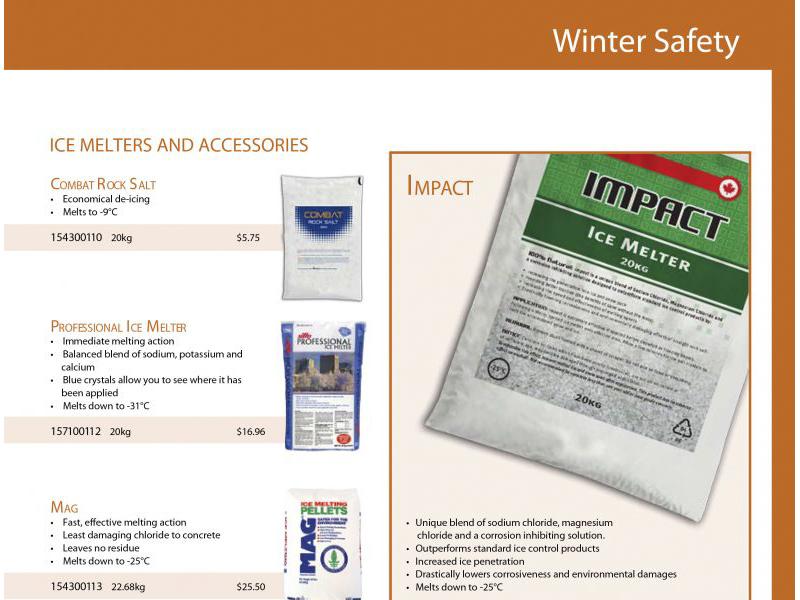 Advantage Winter Catalogue Design - marketing cover with Bare Bones Marketing in Oakville, Ontario.