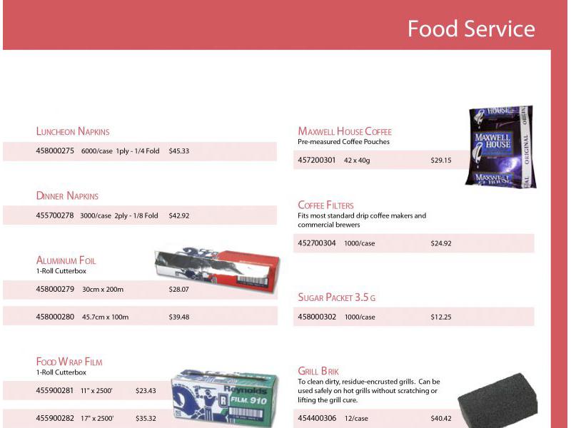 Advantage Food Service Design - marketing cover with Bare Bones Marketing in Oakville, Ontario.