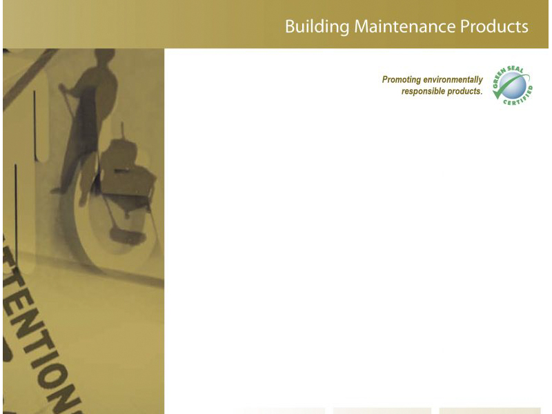 Advantage Building Maintenance Products marketing cover with Bare Bones Marketing in Oakville, Ontario.