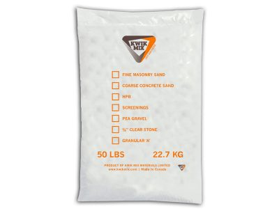 Kwik Mix Aggregate Bag - Packaging Design with Bare Bones Marketing in Oakville, Ontario.