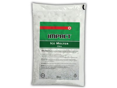 Impact Ice Melter Bag - Packaging Design with Bare Bones Marketing in Oakville, Ontario.