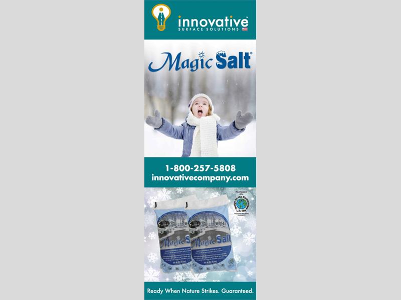 Banner & Signs - Innovative Magic Salt design, Bare Bones Marketing in Oakville, Ontario.
