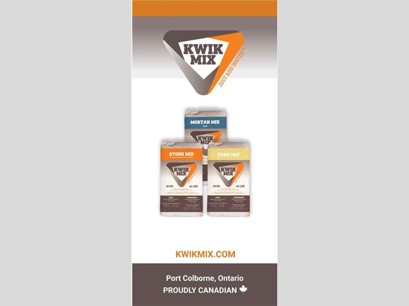 Banners & Signs - Kwik Mix Product design, Bare Bones Marketing in Oakville, Ontario.
