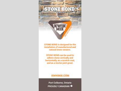 Kwik Mix Stone Bond Banner - Bare Bones Marketing in Oakville, Ontario.