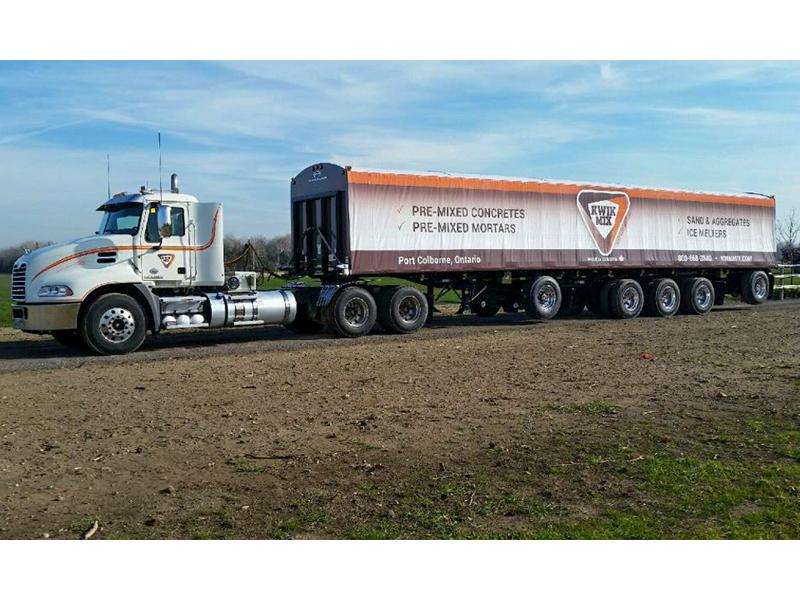 Kwik Mix Truck Wrap - Vehicle Decal Design with Bare Bones Marketing in Oakville, Ontario.
