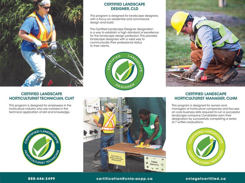 Landscape Horticulture Back - Brochure design with Bare Bones Marketing in Oakville, Ontario.