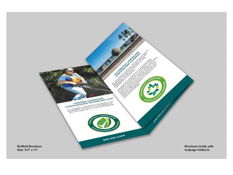 Landscape Horticulture inside view - Brochure design with Bare Bones Marketing in Oakville, Ontario.