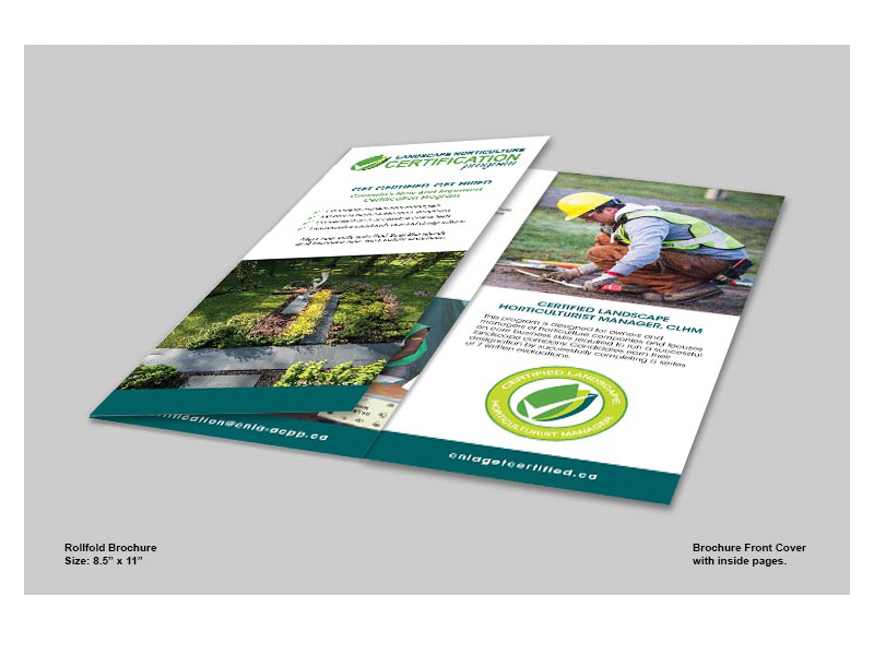 Landscape Horticulture outside view - Brochure design with Bare Bones Marketing in Oakville, Ontario.