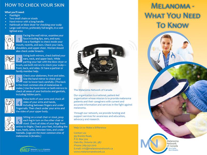MNC Melanoma - Brochure design with Bare Bones Marketing in Oakville, Ontario.