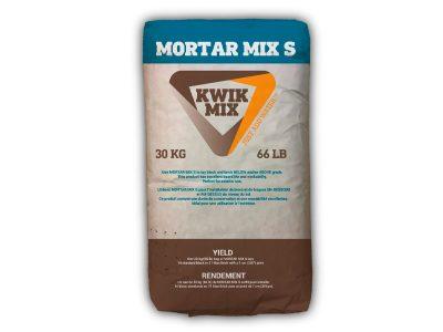 Kwik Mix Mortar Mix S - Packaging Design with Bare Bones Marketing in Oakville, Ontario.