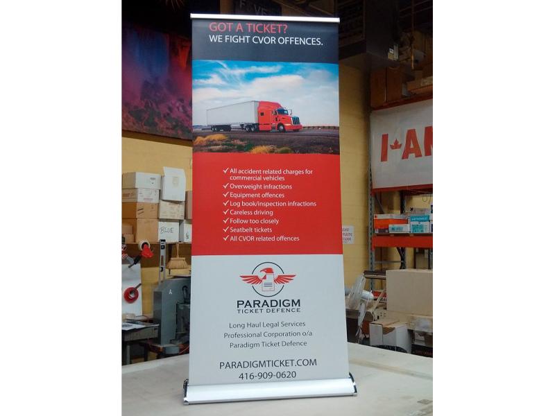 Banners & Signs - Paradigm design, Bare Bones Marketing in Oakville, Ontario.