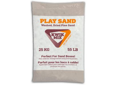 Kwik Mix Play Sand - Packaging Design with Bare Bones Marketing in Oakville, Ontario.