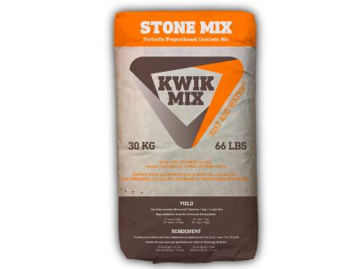 Kiwk Mix Stone Mix - Packaging Design with Bare Bones Marketing in Oakville, Ontario.